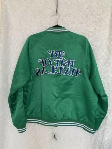 *NWT* OF DALLAS DALLAS MAVERICKS Hardwood Classic Green Jacket LARGE