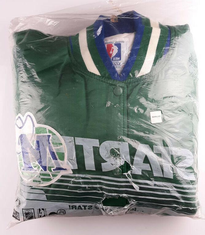 vintage satin jacket nba dallas mavericks xxl