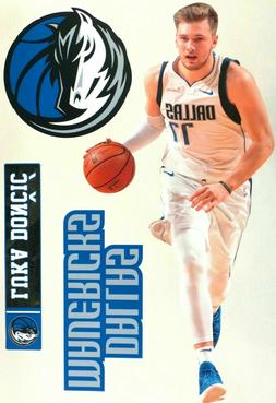 Luka Doncic Dallas Mavericks Logo Fathead Teammate Sticker W