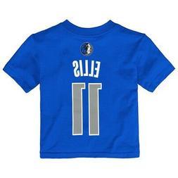 Monta Ellis NBA Dallas Mavericks Name & # Jersey Blue T-Shir