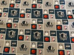 "NBA Dallas Mavericks 100% Cotton Fabric BTY 36"" X 44"" Ya"