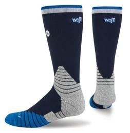 STANCE NBA Dallas Mavericks 559 Navy Blue Logo Crew Basketba