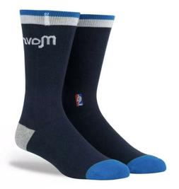 Stance NBA Dallas Mavericks Navy Arena Logo 558 Crew Socks M