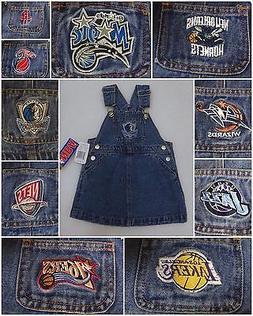 REEBOK NBA TEAM BLUE JEAN DENIM BIB OVERALL JUMPER DRESS BAB