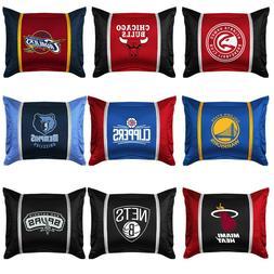 NBA BASKETBALL TEAM PILLOW SHAM - Sport Team Logo Jersey Mes