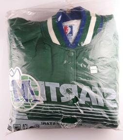Vintage Satin Starter Jacket NBA Dallas Mavericks XXL Green