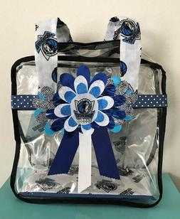 Women's Stadium Approved Clear Hand-Decorated Tote Bag in Da